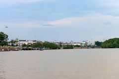 Old Krabi town riverbank Royalty Free Stock Images