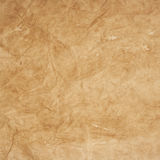 Old kraft paper texture with creases Royalty Free Stock Photos