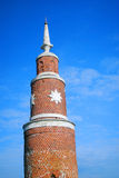 Old Kremlin tower decorated by stars. Kolomna, Russia royalty free stock photos