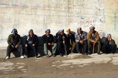 Old Kurdish Mans. Older Kurds are sitting in coffee,Arbil,Kurdistan,North Iraq Royalty Free Stock Photo