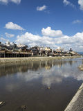 Old Kyoto from Kamo River Stock Photo
