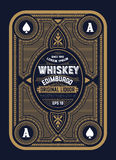 Old  label design for Whiskey. And Wine label, Restaurant banner, Beer label Stock Photo