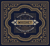 Old  label design for Whiskey. And Wine label, Restaurant banner, Beer label Royalty Free Stock Images