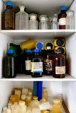 Old laboratory with a lot of bottles Royalty Free Stock Photography