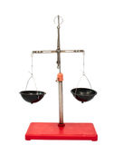 Old laboratory scales Royalty Free Stock Photos
