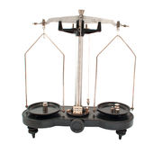 Old laboratory scales Stock Photo