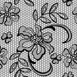 Old lace background ornamental flowers. Vector Royalty Free Stock Photo