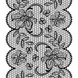 Old lace background ornamental flowers. Vector Stock Photo
