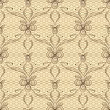 Old lace background, ornamental flowers. Vector Stock Photography