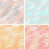 Old lace background, set of 4 seamless pattern Royalty Free Stock Photo