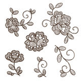 Old lace ornamental flowers. Stock Images