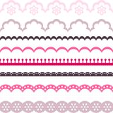 Old lace ribbons, abstract ornament. Vector Royalty Free Stock Photos