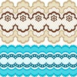 Old lace ribbons, abstract ornament. Vector Stock Photography