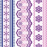 Old lace ribbons, abstract ornament. Vector Stock Images
