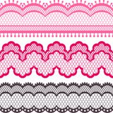 Old lace ribbons, abstract ornament. Vector Royalty Free Stock Photo