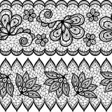 Old lace seamless pattern, ornamental border Stock Photos