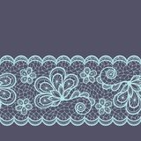 Old lace seamless pattern, ornamental border Royalty Free Stock Photography
