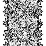 Old lace seamless pattern, ornamental border Stock Photo