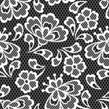 Old lace seamless pattern, ornamental flowers Royalty Free Stock Images