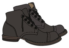 Old lacing boots Stock Image