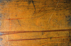 Old lacquer plywood texture. Side of old used wooden toolbox Stock Photography