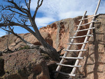 Old ladder. An old ladder in ancient Indial dwelling Stock Photos