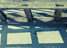 Old ladder on the ground, vintage style Royalty Free Stock Photo
