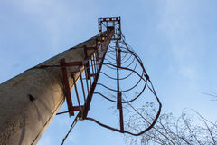Old ladder tower stock photography