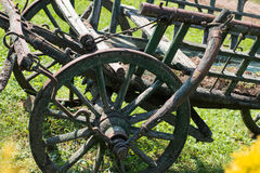 Old ladder wagon. In Lazar Lovaspark, Hungary Royalty Free Stock Image