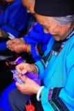 Old ladies knitting Royalty Free Stock Image