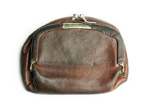 Old ladies leather purse Stock Photography