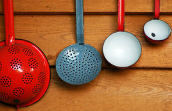 Old ladles Stock Photo