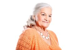 Old lady Stock Photography