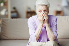 Old lady crying Royalty Free Stock Photography