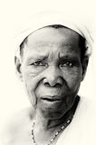 An old lady from Ghana poses Stock Photography
