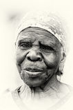 An old lady from Ghana poses Royalty Free Stock Photo