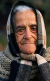 Old lady of Greece. Image shows a portrait of an old proud traditional Greek lady from a village in Mani peninsula stock image