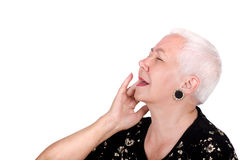 Old Lady Having Toothache Royalty Free Stock Photos