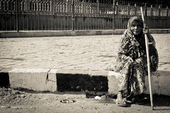 Old lady of Jaipur, India Royalty Free Stock Photo