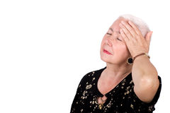 Old Lady with Migraine Headache Stock Images