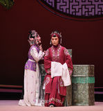 "The old lady offered to-Kunqu Opera ""the West Chamber"" Stock Photo"