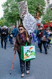 The old lady protester in Paris