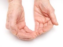 Old lady's hands. Photo of the beautiful old lady's hands Royalty Free Stock Images