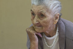 Old lady's portrait Stock Photo