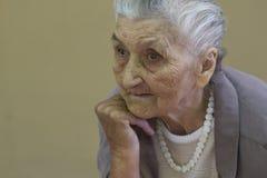 Old lady's portrait stock photo