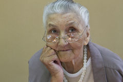 Old lady's portrait Royalty Free Stock Photo