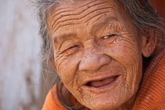 Old Lady, Smile, Beautiful, Woman Royalty Free Stock Image