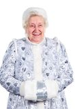 Old Lady- Snow Maiden. Old Lady in the dress of the Snow Maiden Royalty Free Stock Photos