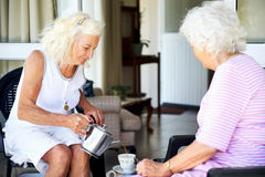 Old lady tea party Royalty Free Stock Photography