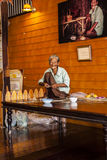 Old lady at work. Amphawa, old lady at work Stock Photography